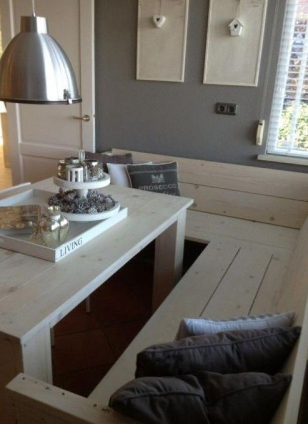 Leuke eethoek  Living and loving  Pinterest  Eethoek