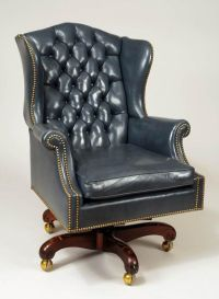 Leather Desk Chair: Executive King Leather Office Chair ...