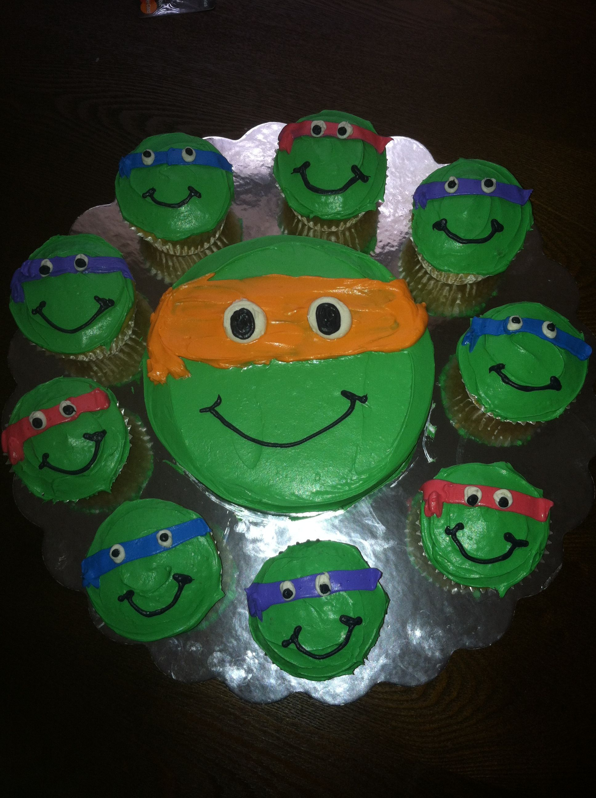 Ninja Turtles Mini Cake Amp Cupcakes