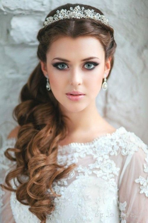 Quinceanera Hairstyles With Curls And Tiara The Best Hairstyle