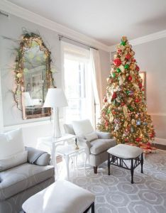 Christmas bedrooms living room dining house also rh pinterest
