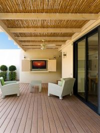 Gallery For > Bamboo Covered Pergola   Patio Designs ...