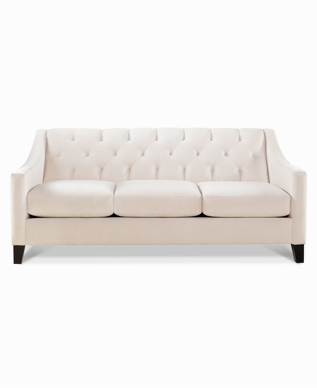chloe velvet tufted sofa living room furniture collection cabinets storage metro classic button tufting and a