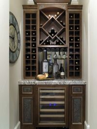 Contemporary Wine Cabinet with Custom Hanging Glass ...