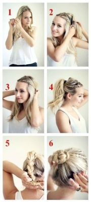 braided bun updos ideas messages