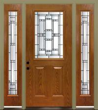 """Mastercraft Venice 36"""" x 80"""" Fiberglass Ext. Door with 14 ..."""