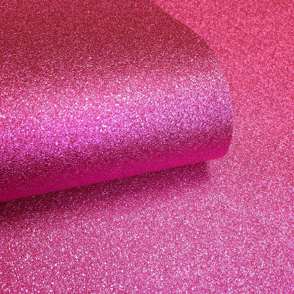 i love wallpaper™ glamour real glitter wallpaper hot pink (glam356