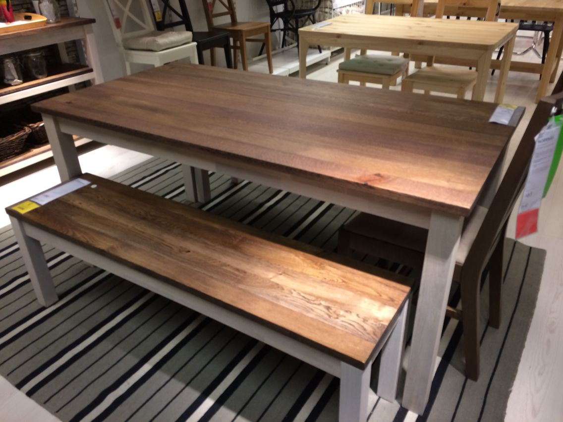 Bench and kitchen table  IKEA Kejsarkrona  Ikea  Pinterest  Kitchens Kitchen dining and