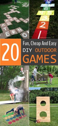 20 Fun, Cheap And Easy DIY Outdoor Games For The Whole ...