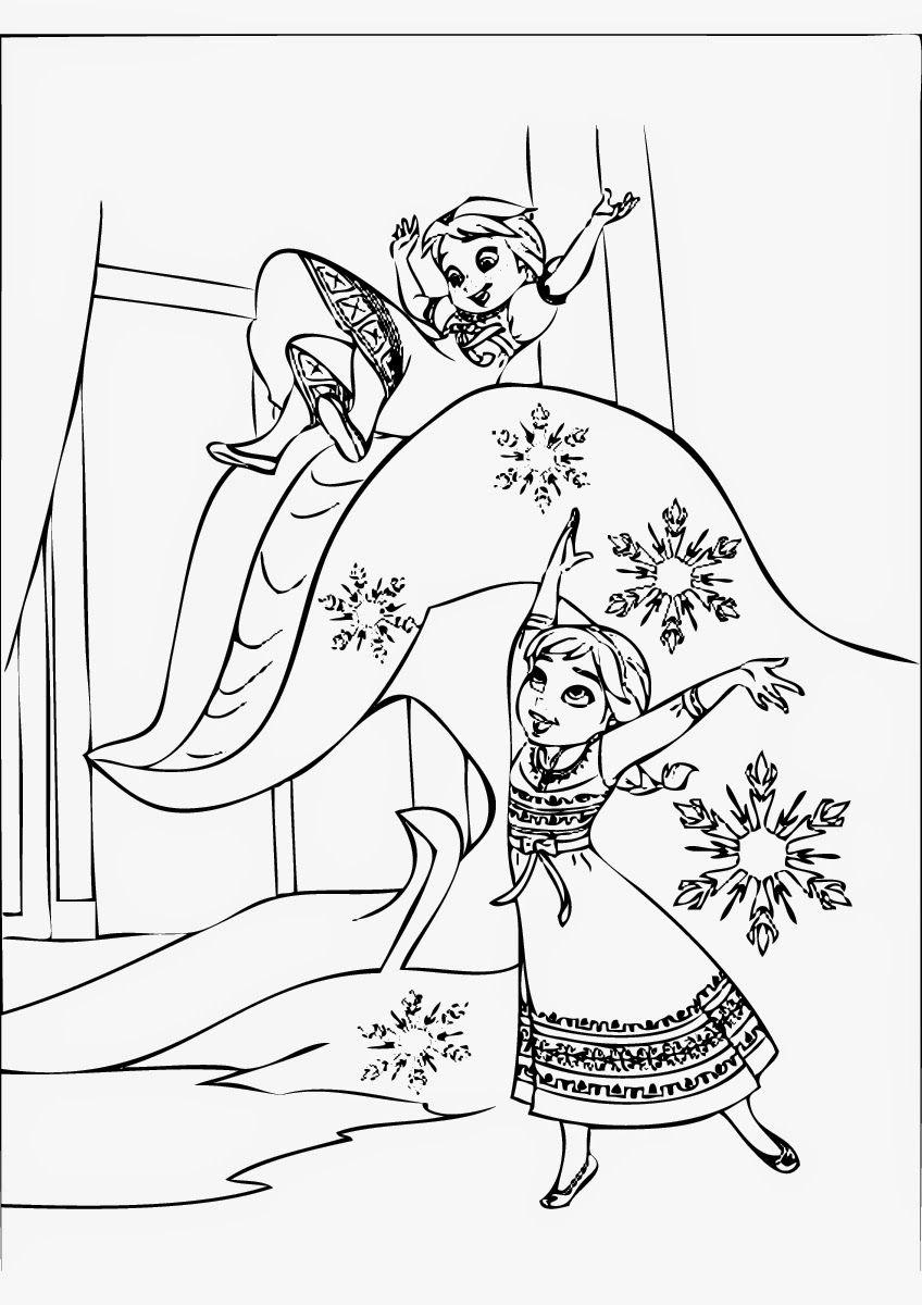 Free Disney Frozen Coloring Pages 848×1200 Fargelegging