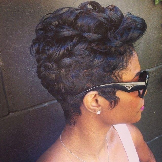 Black Women Hairstyles on Pinterest  Weave Hairstyles Curly Weave Hairstyles and African