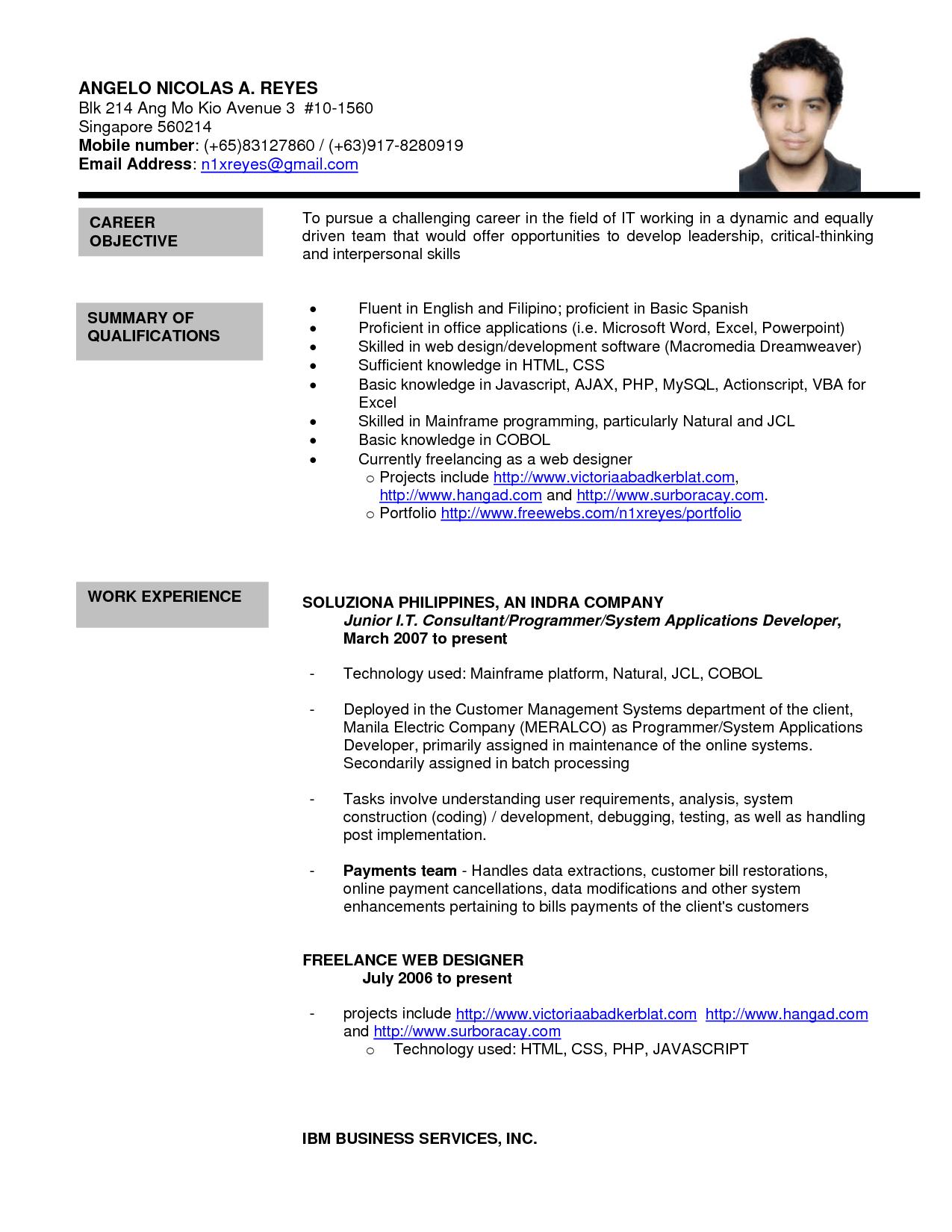 jobstreet resumes