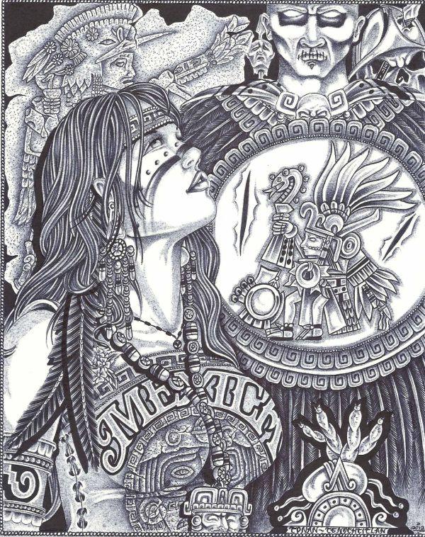 Aztec Woman Jimmy Tarango Character Inspiration