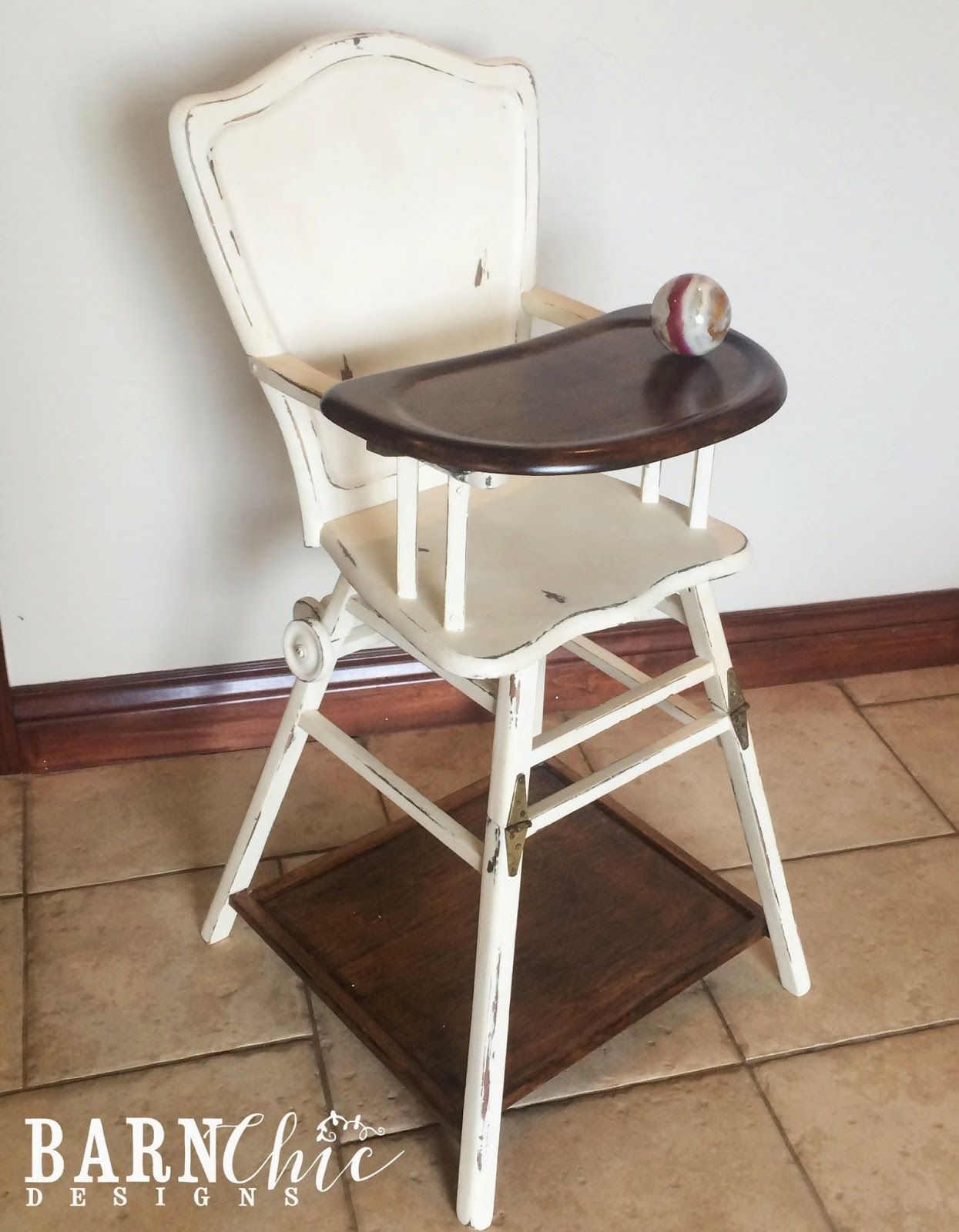 Refurbished Chairs Refinished Antique Old Wooden High Chair By Barn Chic