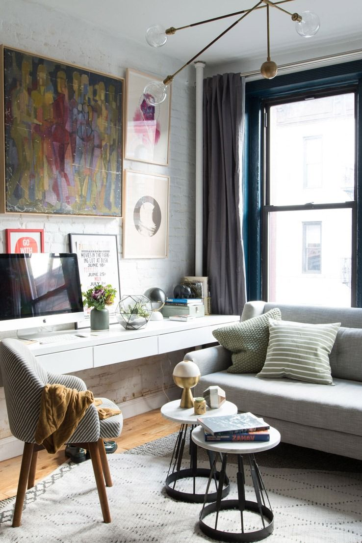 west elm crosby chair cover rental little rock small space living: making the most of this 500 sq. ft. apartment, jam packed with mid-century ...