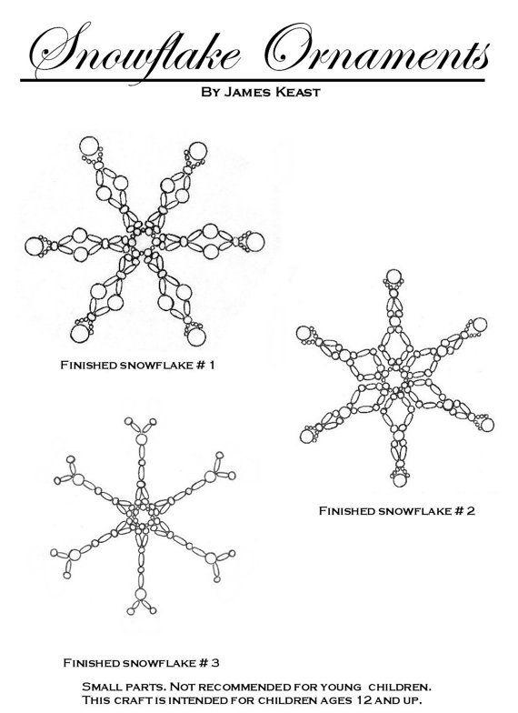 Beaded snowflake ornaments PATTERN (item no longer