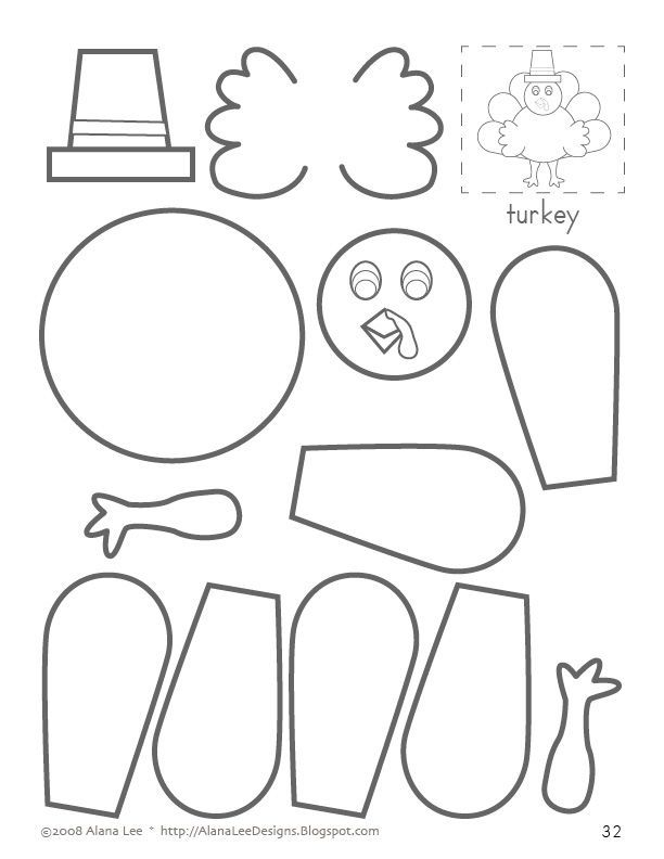 related pictures cut paste and color a turkey coloring