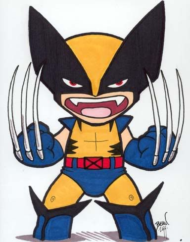 Chibi Wolverine With 6 Claws Photo Chibiwoverine5by