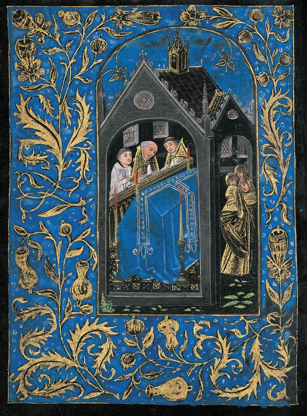 Scene Liturgical Obsequies Book Of Hours Belgium