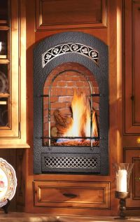 Small wall mounted gas fireplace. Great for bedrooms ...