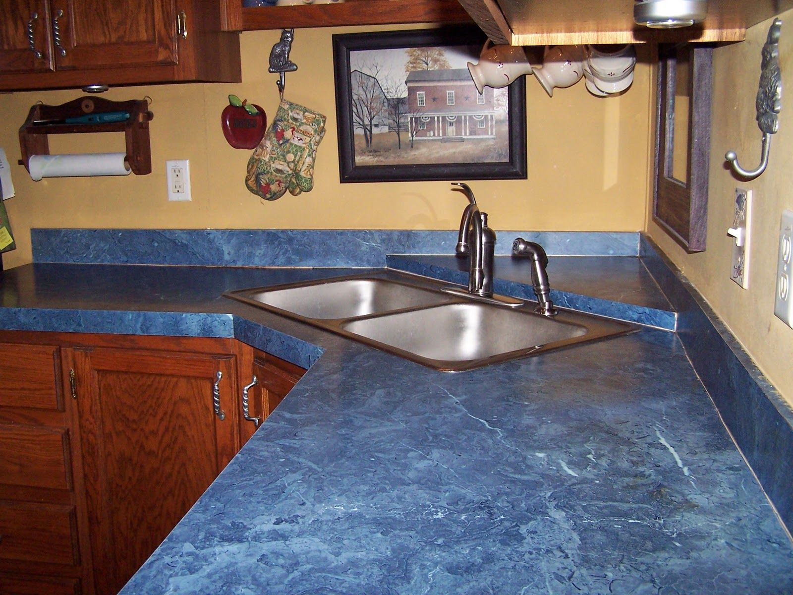 blue kitchen countertops 42 inch cabinets modern interior design with countertop
