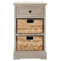 Accent table or night stand with (wicker) baskets/boxes ...