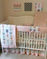 Baby Boy Crib Bedding Set Made to Order Mint Gray Fox and