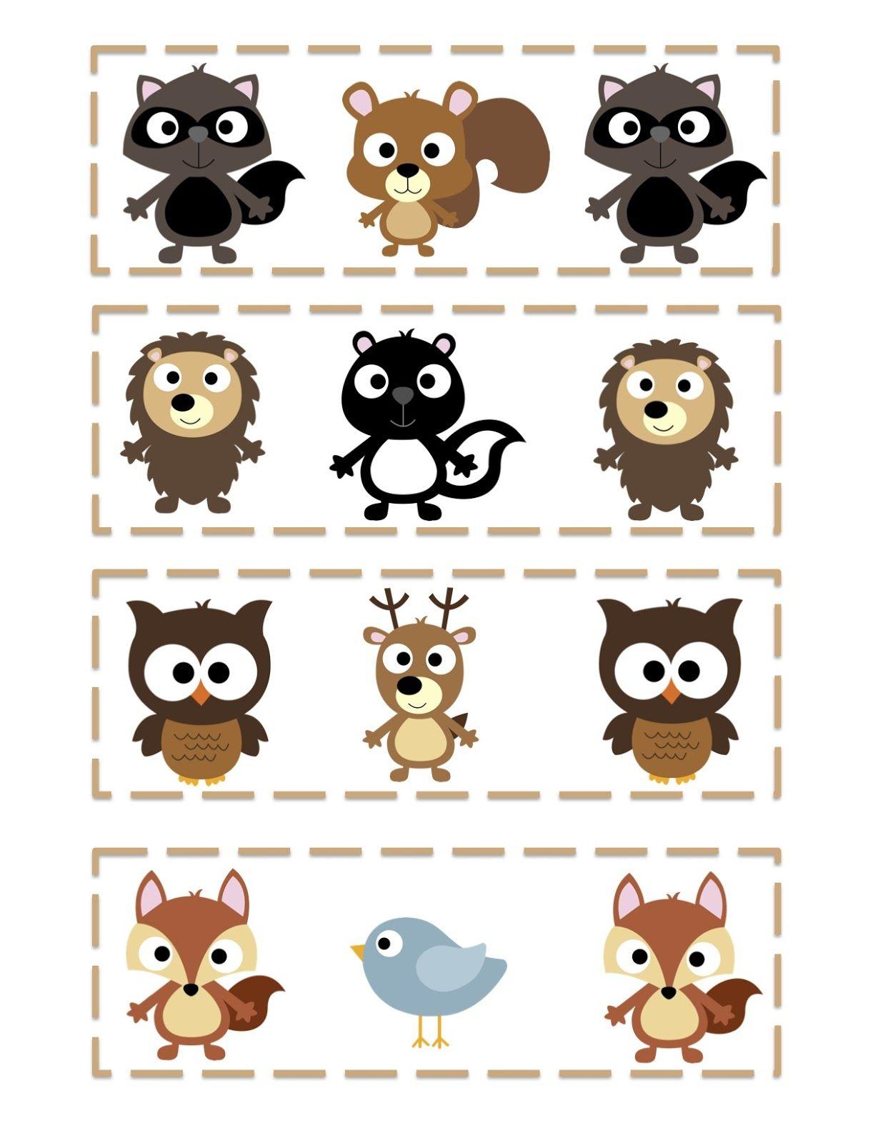 Preschool Printables Free Forest Friends Printable