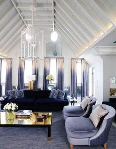 Livingroom velvet blue purple lighting chic architecture and home also rh pinterest