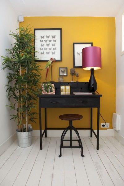 woontrend 2014  tropisch chique  woonkamer geel behang