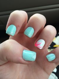 Cute, summer acrylic nails http://cutenail-designs.com ...