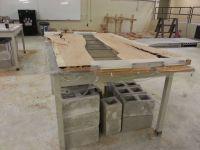 cherry and concrete dining table   Concrete, Concrete ...