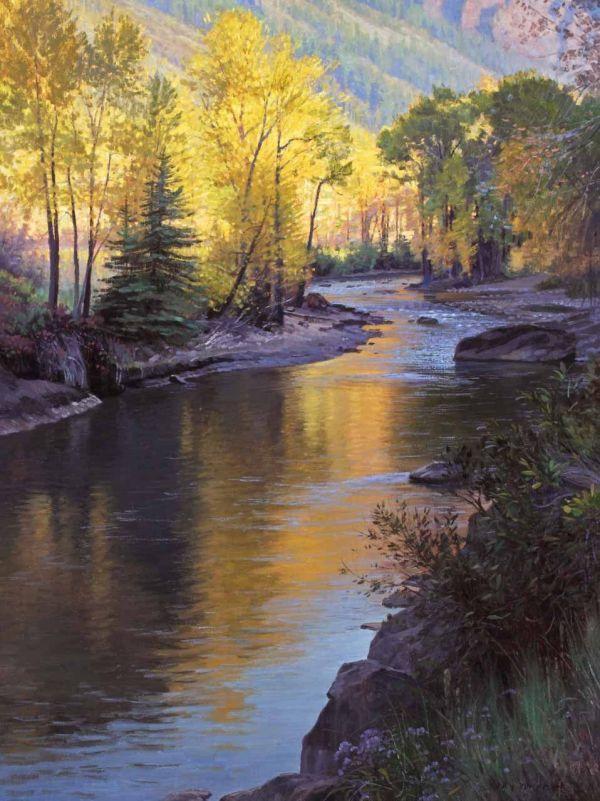 River Landscape Oil Paintings