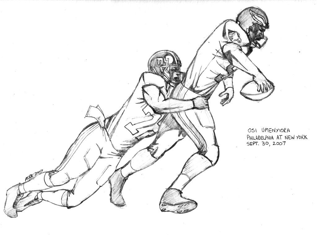 Nfl Football Players Eagles Coloring Pages Sports