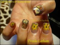 Here is my new Scarecrow design. | Fall nail art designs ...