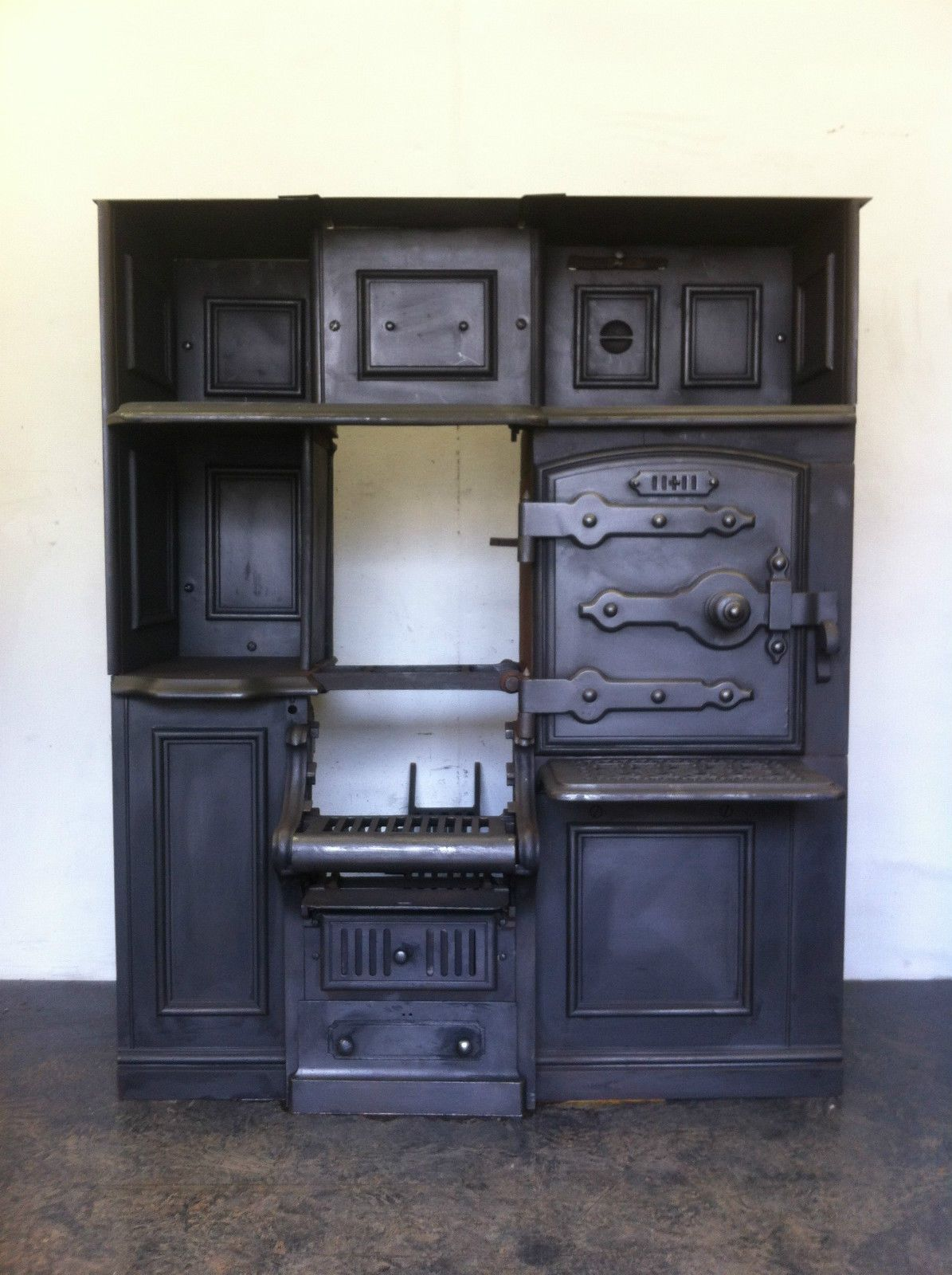 cast iron kitchen stove baxton studio cart restored antique victorian cooking range
