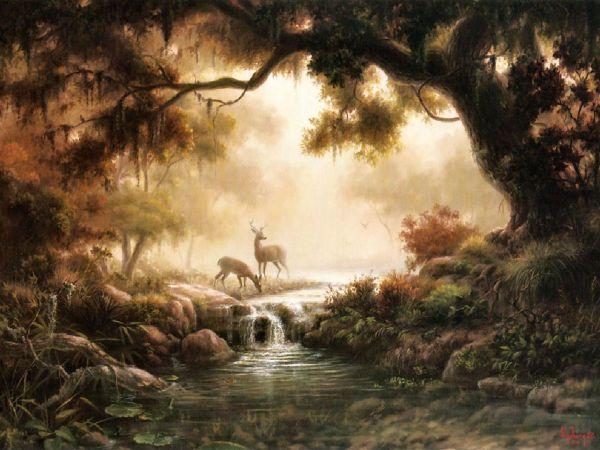 Woodland Reflections Dalhart Windberg Of Favorite Texas Artists. Art