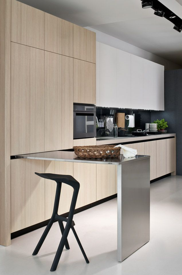 Kitchen With Sliding Table Fly 04 Elmar Cucine Home