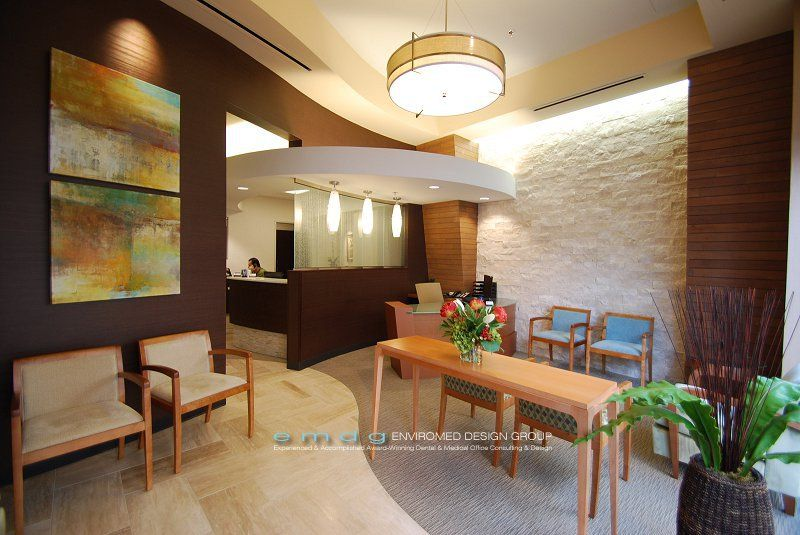 Dental Office Waiting Room Photos by EnviroMed Design