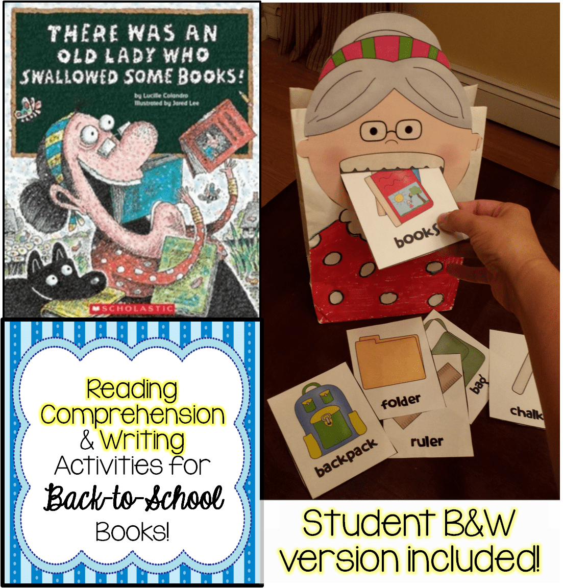 September Back To School Read Alouds Comp Skills And Writing Activities