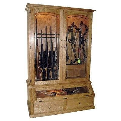 12 Gun and Bow Cabinet. Need thissss!