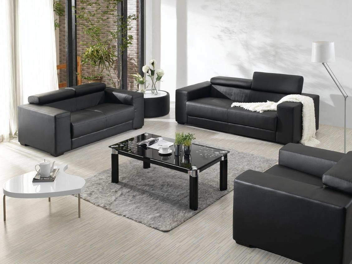 sofa set glass table nashville bed elegant red rug with black furniture modern