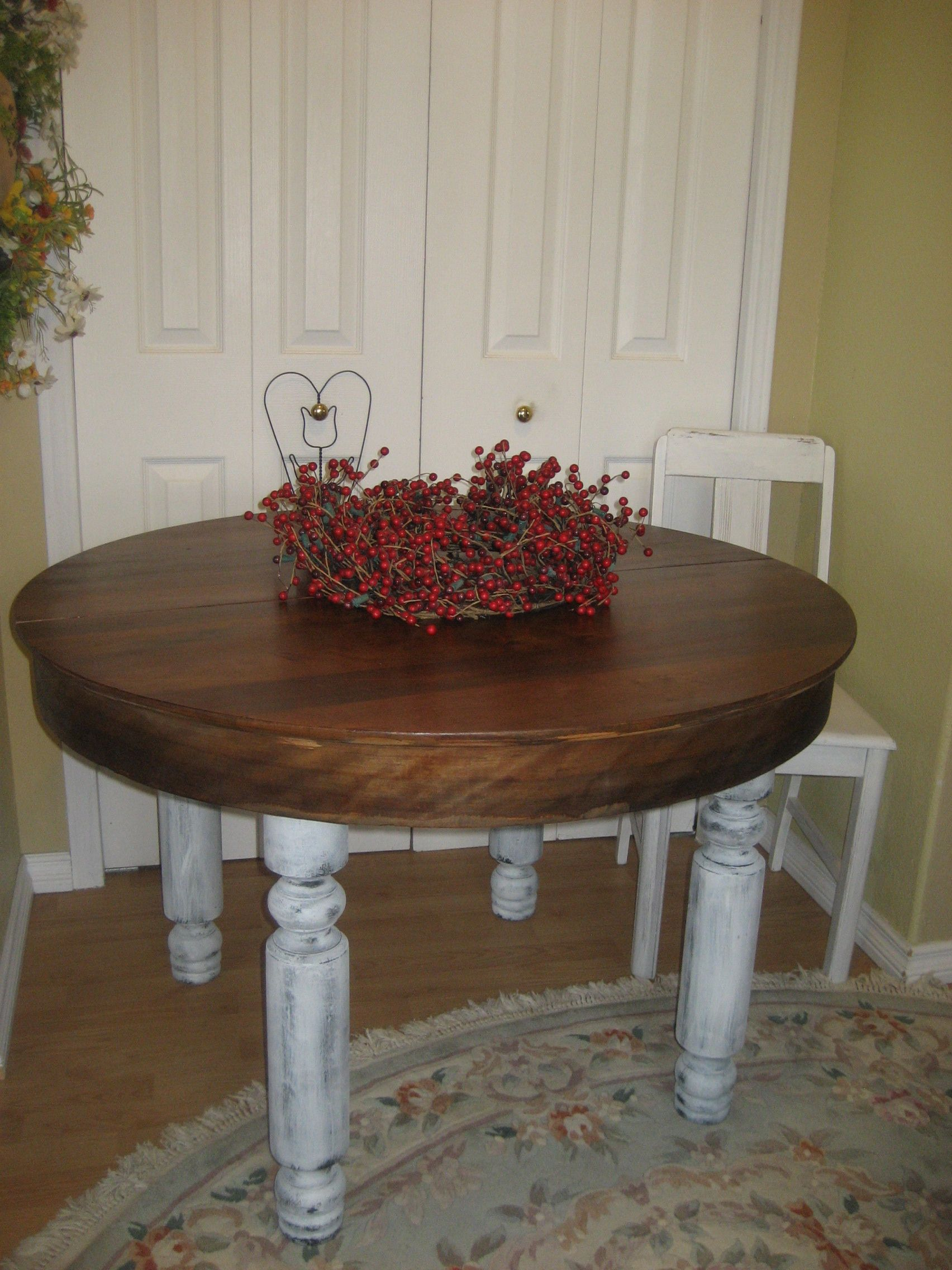 Antique, Reclaimed Upcycled Kitchen Table!sweet!  Bound