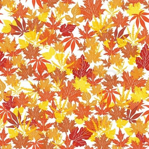 Fall Themed Wallpaper Patters Single Square Repeat Vector Of Abstract Autumn Background