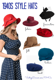 vintage inspired 1940s style hats