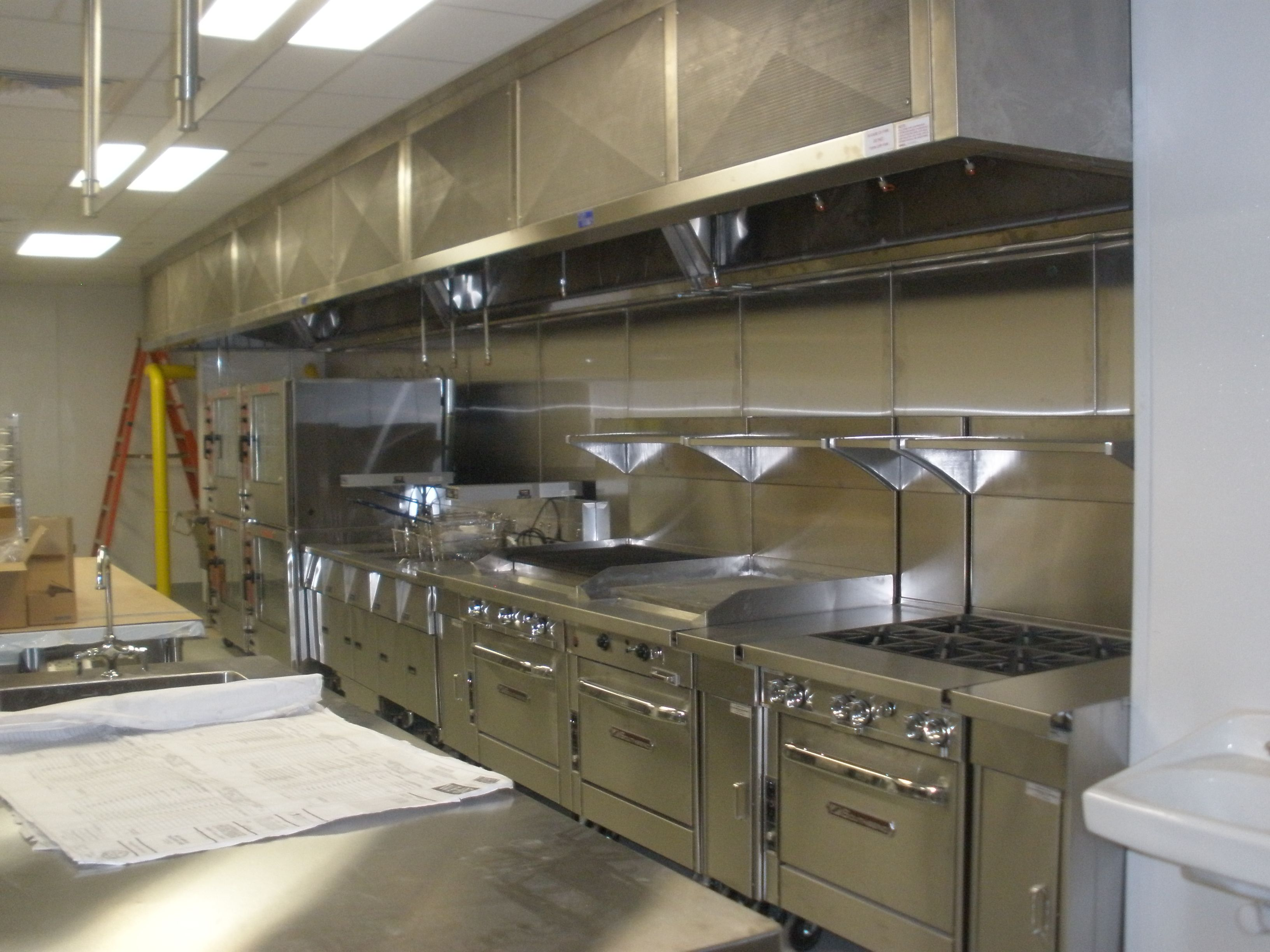 stainless steel restaurant kitchen cabinets island lighting furniture magnificent small design with