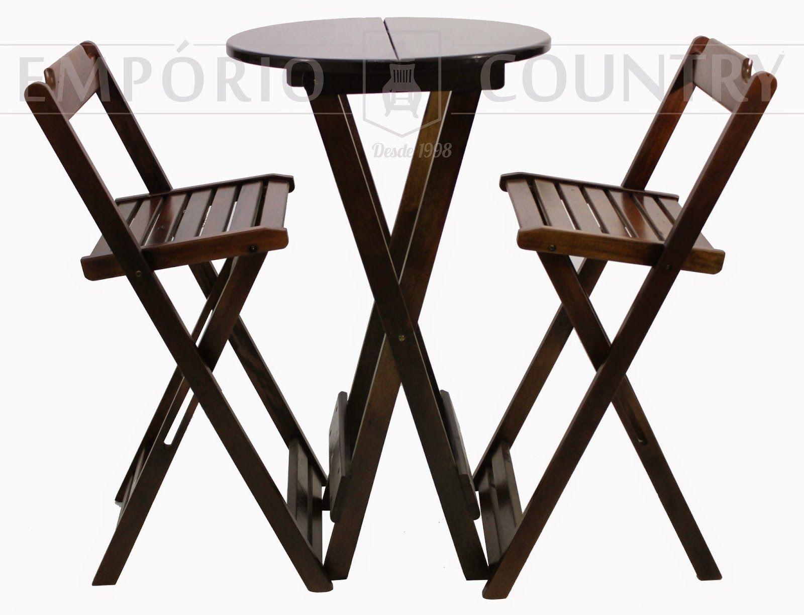 folding chair aldi big lots lounge chairs empório country móveis conjunto de bistrô dobrável