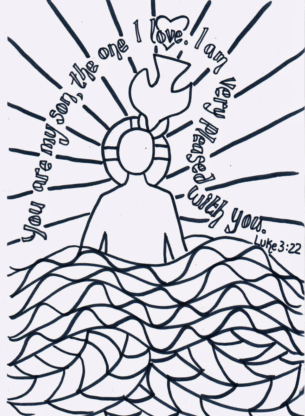 Flame Creative Children S Ministry Reflective Colouring The Baptism Of Jesus Kidmin
