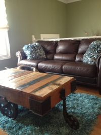 Living room, turquoise and chocolate brown | In my house ...
