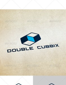 Double cubbix graphicriver logo template include formats ai eps psd also internet cube design and templates rh pinterest